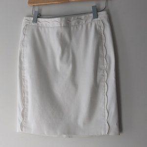 Banana Republic Pencil Skirt White Size 0